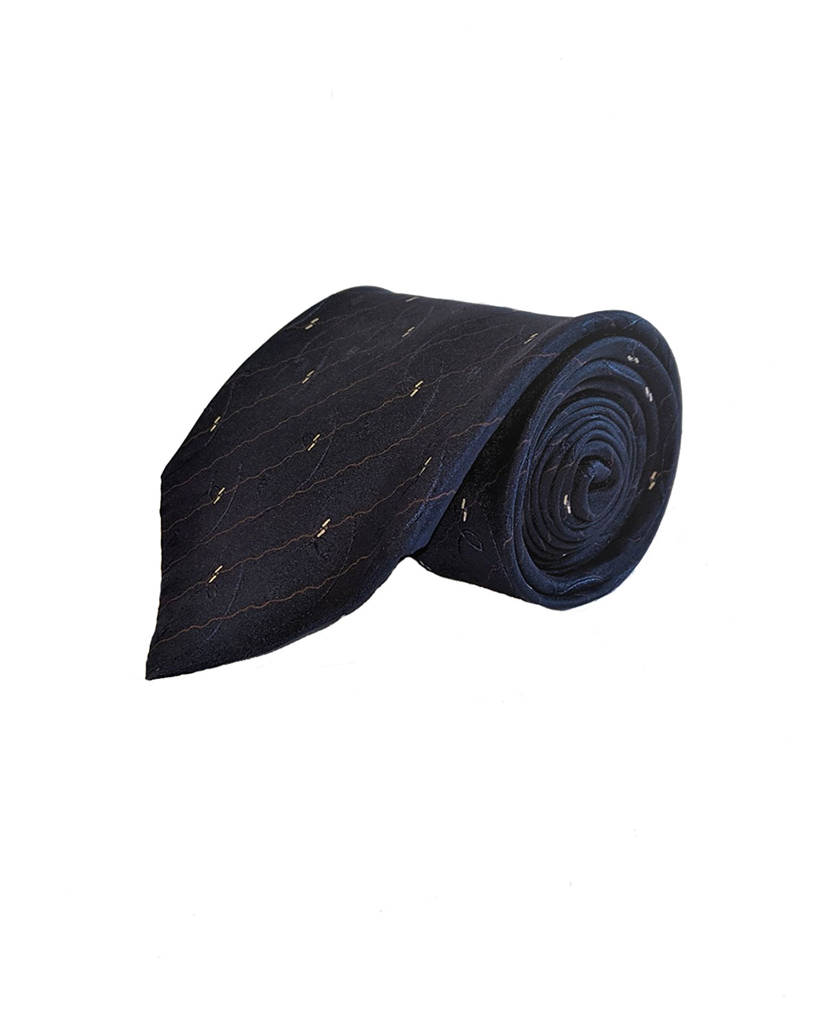Christms Special - Blue Stripe Silk Tie