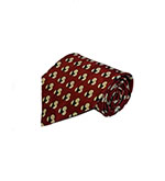 Christms Special - Red With Cirlces Silk Tie